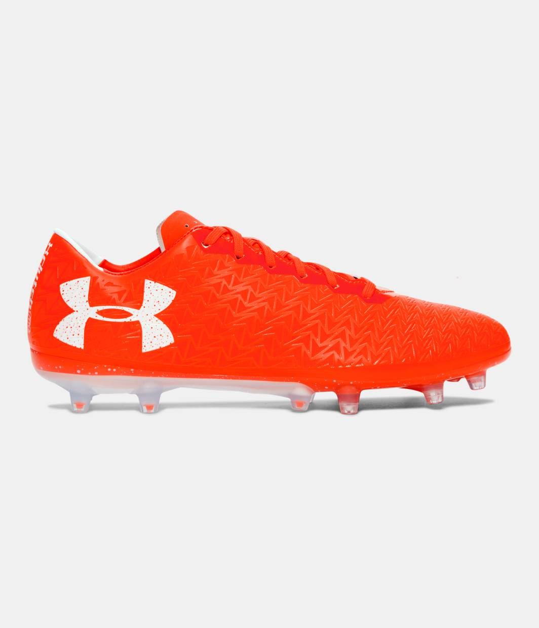 all red under armour cleats