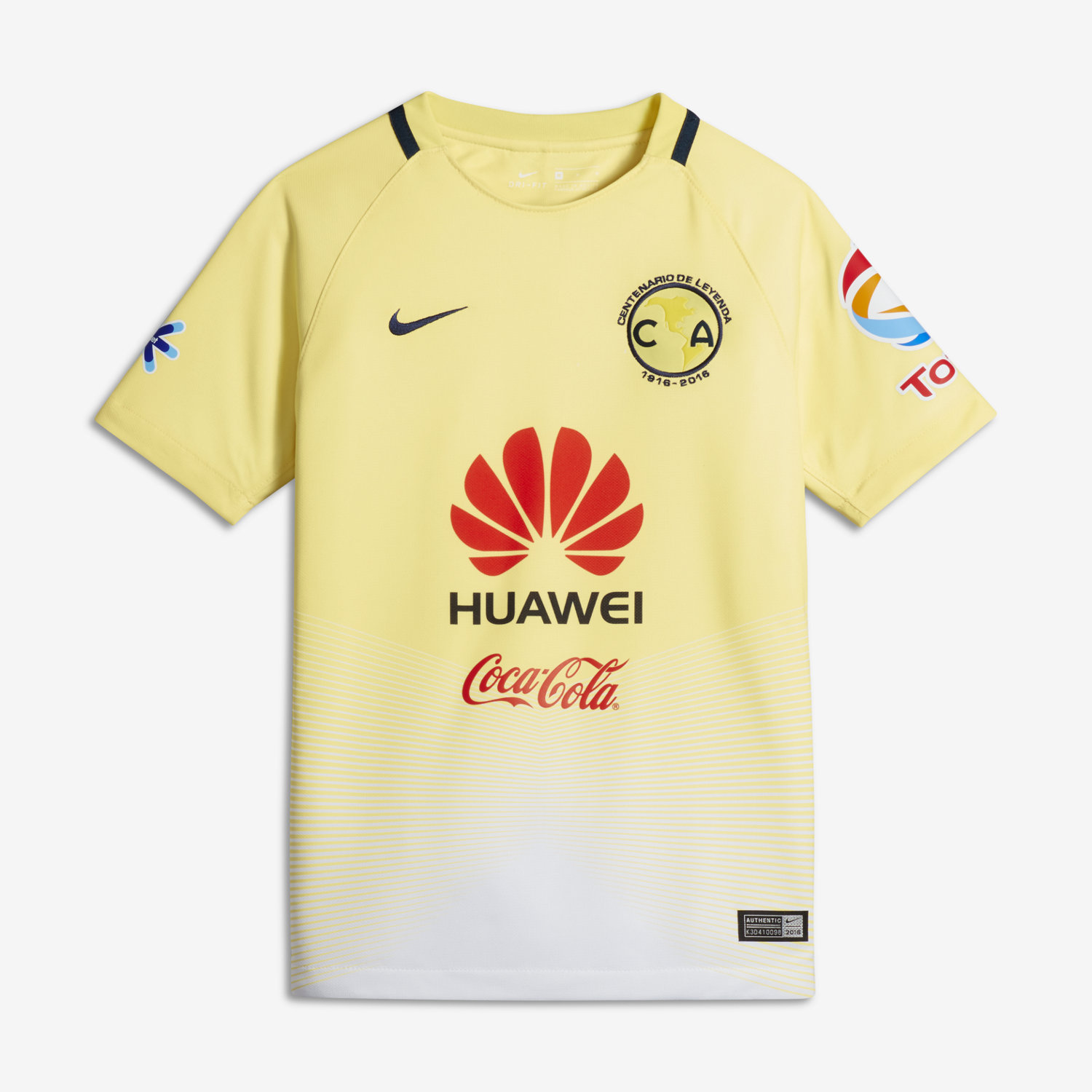 newest 6d94d 3f197 Nike Club America Home Jersey Youth 2016/17 - Yelw