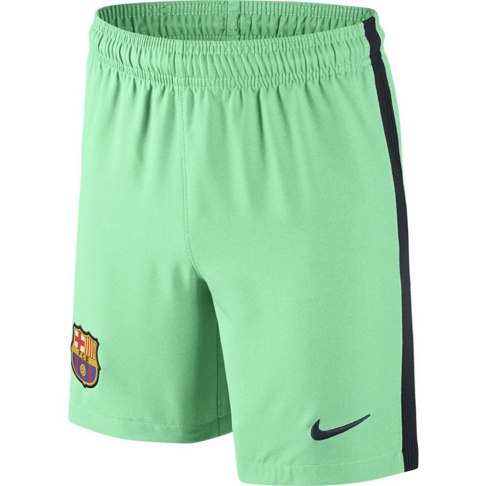 Nike Barcelona 3rd Youth Shorts 2016 17-Green Glow a7ac553f40388
