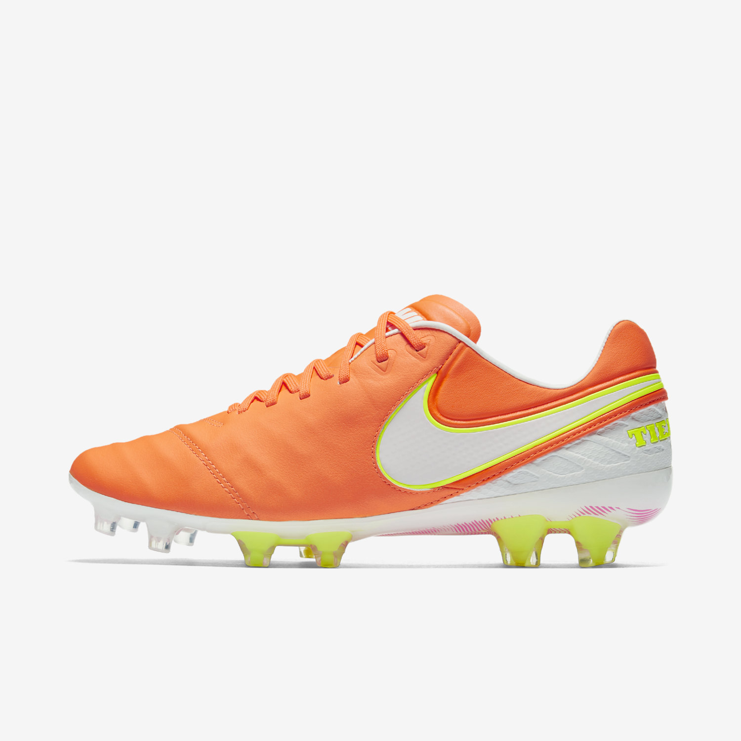 newest 49a06 92362 Nike Tiempo Legend VI FG Women's - Orange/White