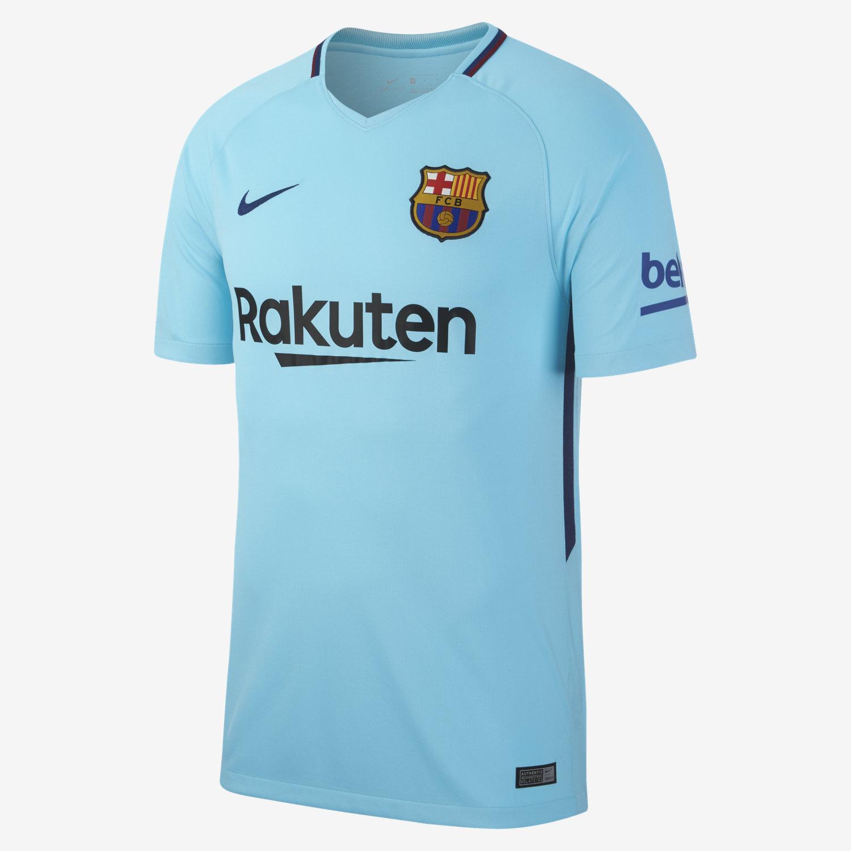 Nike Barcelona Away Jersey Mens 2017/18 - Light Blue