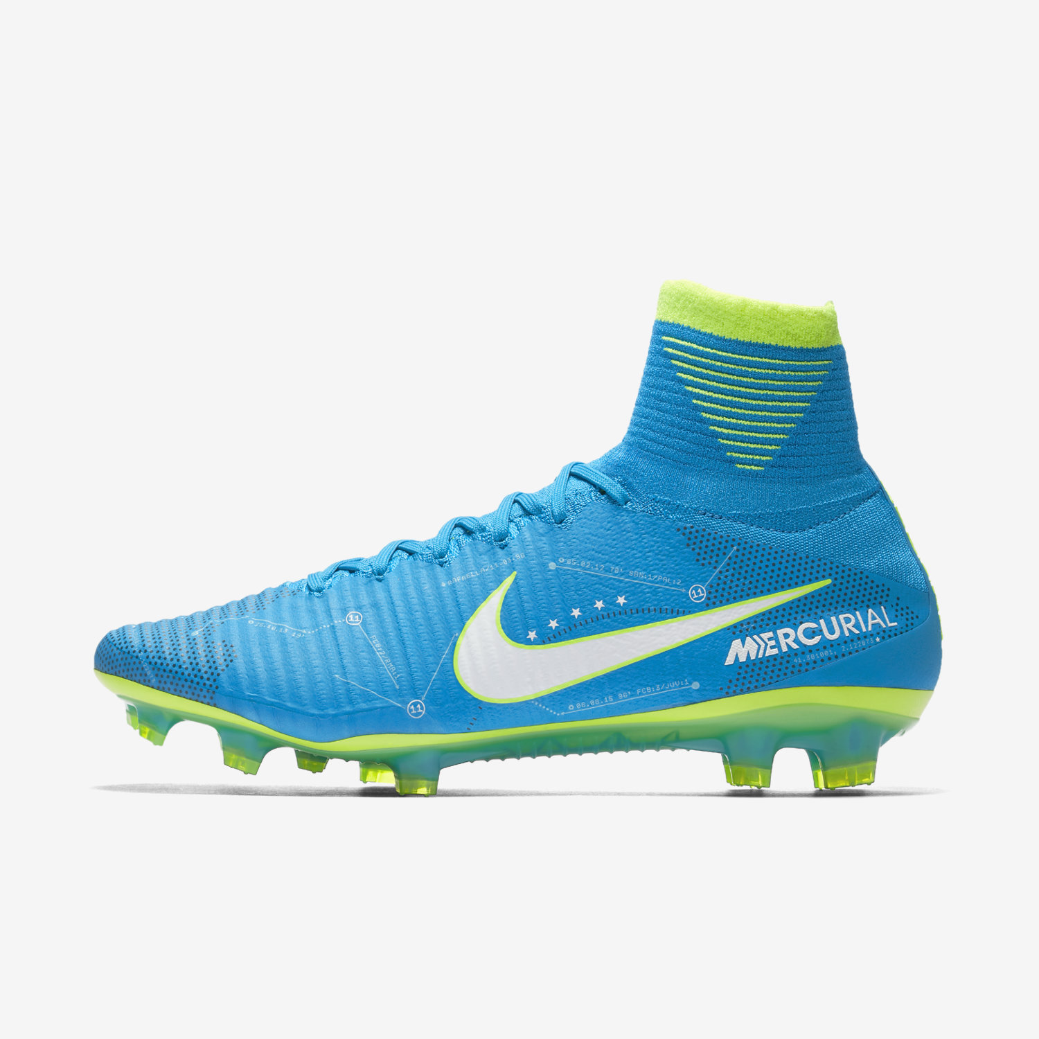 Nike Jr. Mercurial Superfly V Dynamic Fit Neymar FG - Girls Football Boots - Blue/White/Navy