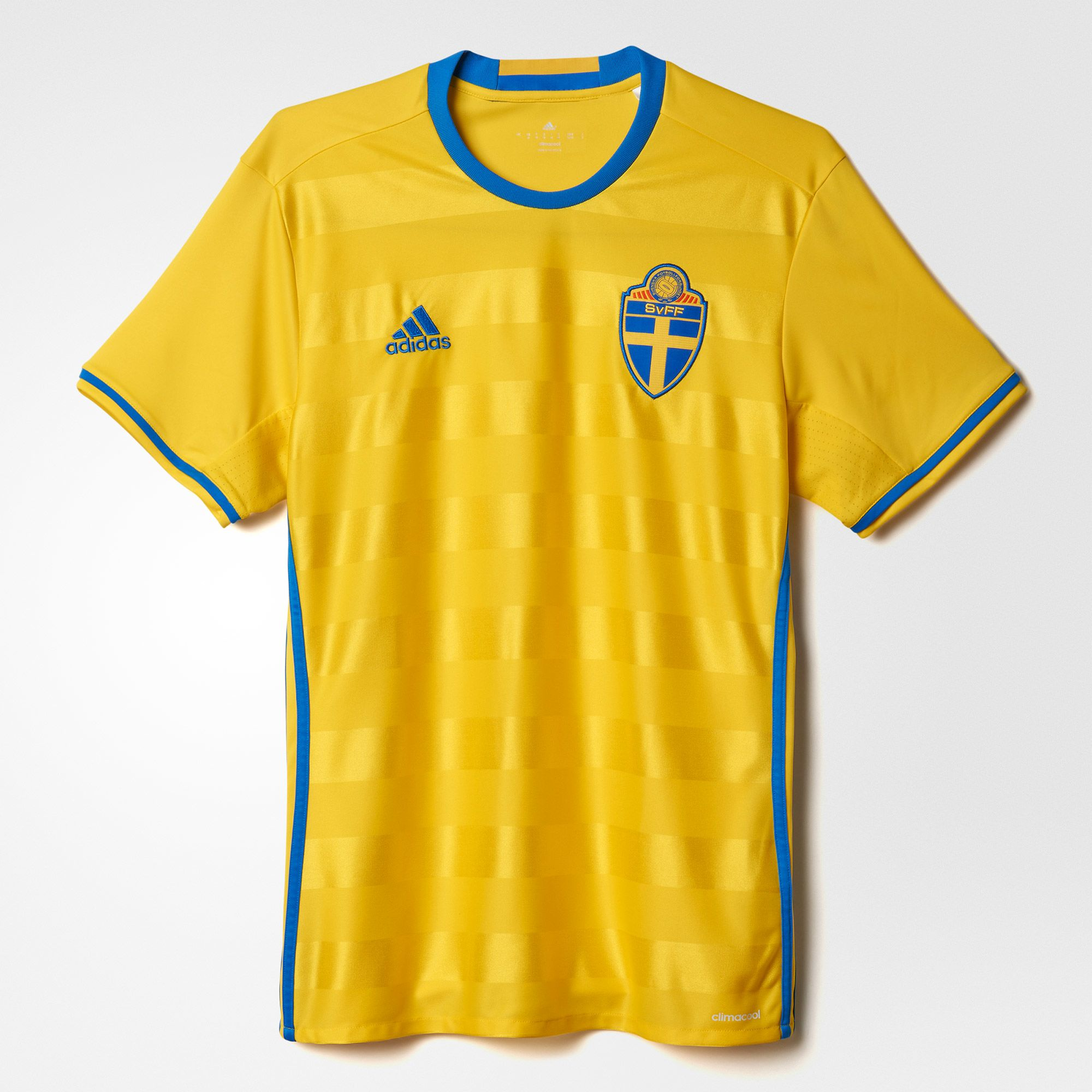 adidas Sweden Home Jersey 2015/16 - Yellow/Royal
