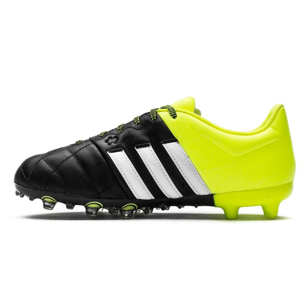 best sneakers 7b34b b281d adidas Ace 15.1 FG/AG Leather Jr - Black/Yellow
