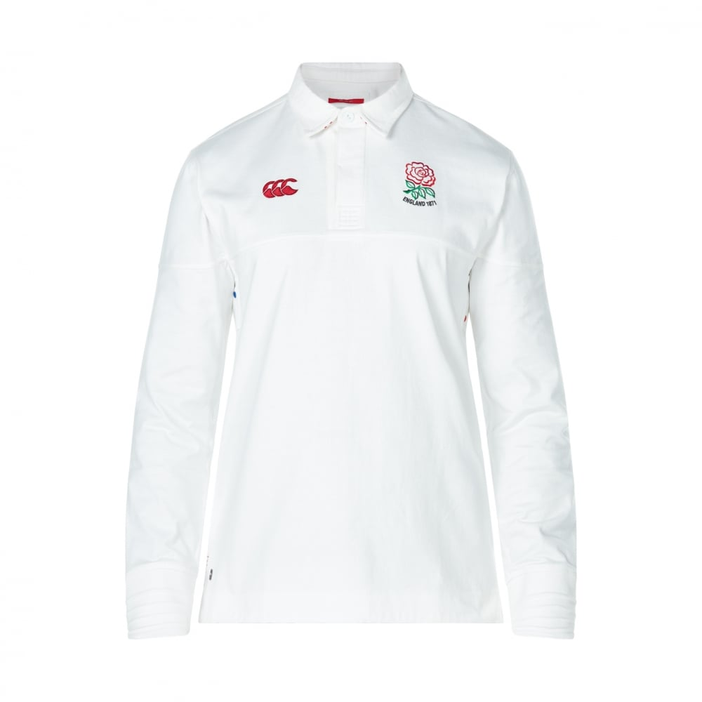 Ccc England 1871 Vintage Long Sleeve Rugby Jersey White