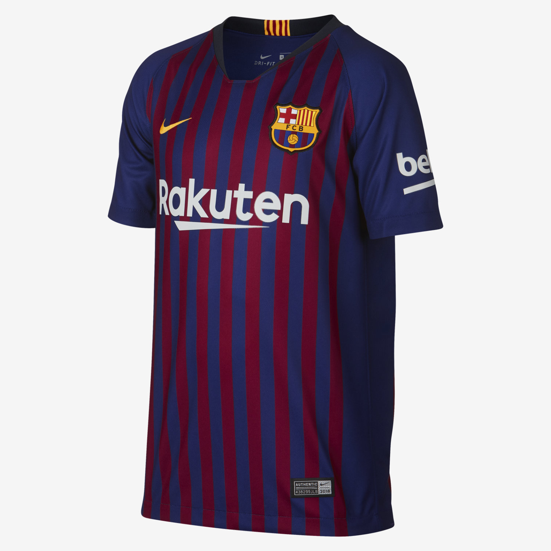 pretty nice 2df5f 3de7a Nike Barcelona Messi Home Jersey Youth 2018/19 - Royal
