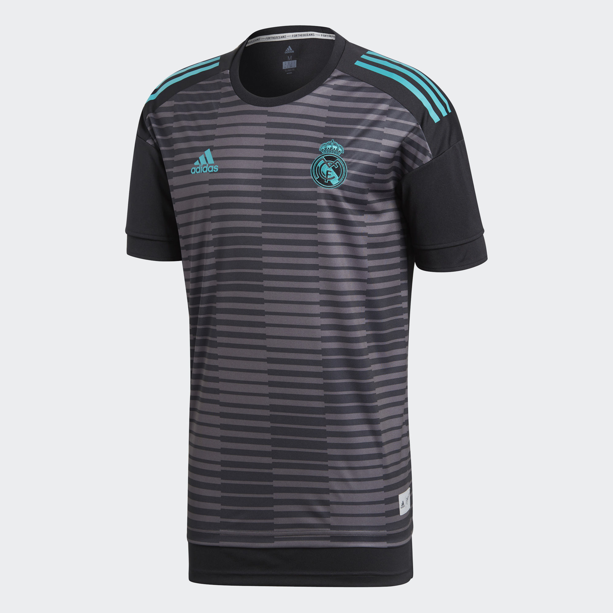 e19dc6f0e ... Real Madrid embroidered crest on chest3-Stripes on shoulders  Woven  adidas Badge of Sport on chestBoxy fit offers extra room and length