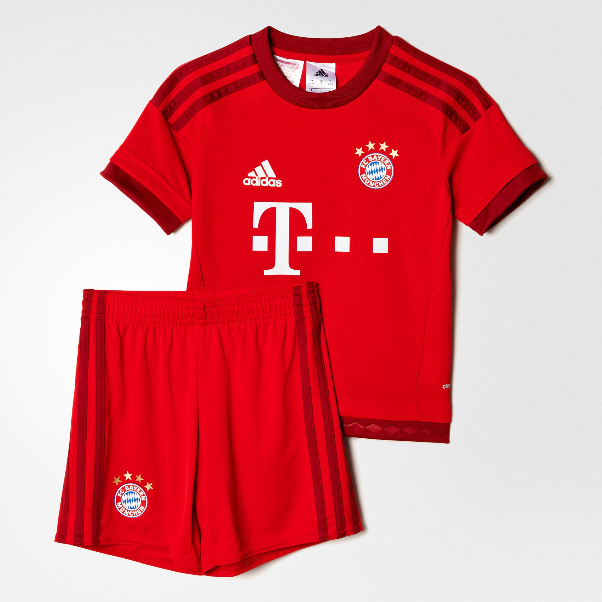 official photos 573b0 0cb85 adidas Bayern Munich Home Mini Kit 2015/16 - Red