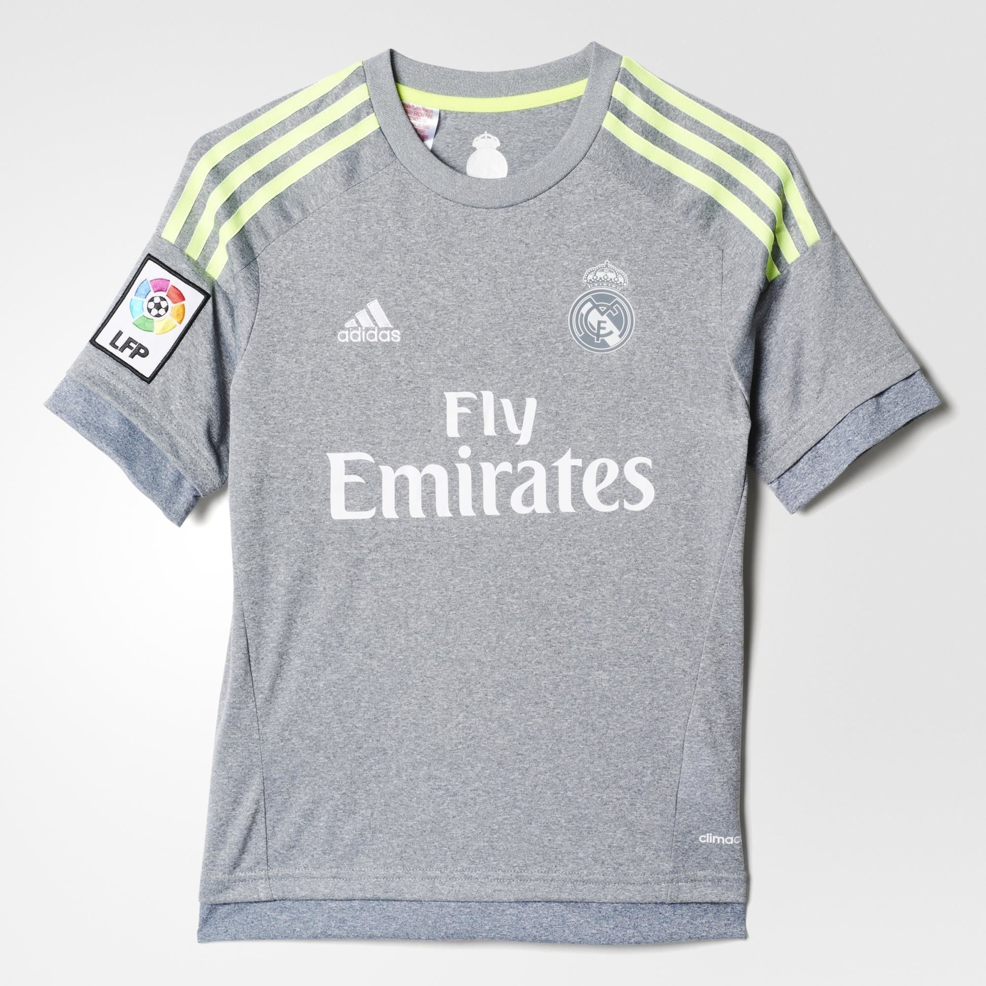 best website 00010 083fc adidas Real Madrid Away Jsy Youth 2015/16 - Grey
