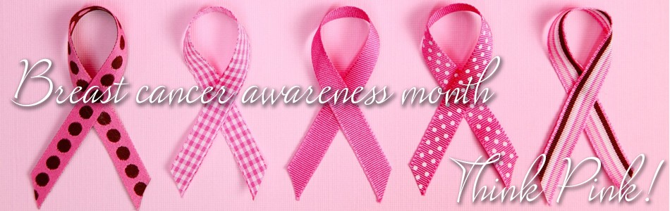 Pink October ribbons cancer awareness