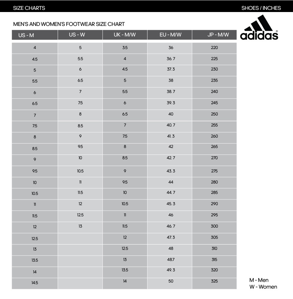 Apparel Sizing Chart ce89b99668e8